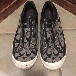 Coach sneakers (lightly used)